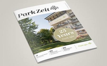 Current issue of ParkZeit magazine @Park Igls Mayr clinic Tyrol Austria