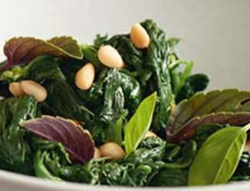 Spring recipe with spinach