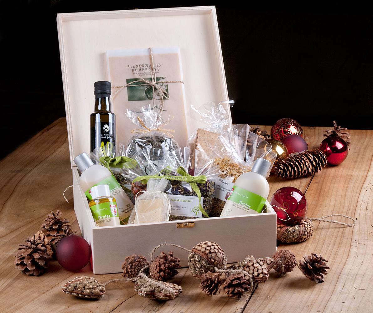 Die Geschenkbox des Parkhotel Igls - Weihnachtsgeschenke für Gesundheit und Wohlbefinden